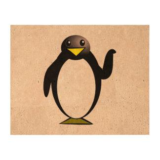 Clipart del pingüino impresión en corcho