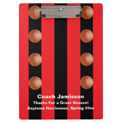 Clipboard, Black and Red Stripe, Basketball Coach