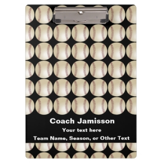 Clipboard Black Personalized Gift 4 Baseball Coach