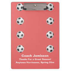Clipboard, Coral, Soccer Coach