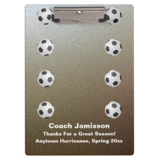 Clipboard, Faux Chrome, Soccer Coach Clipboard