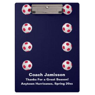 Clipboard, Navy Blue, Soccer Coach Clipboard