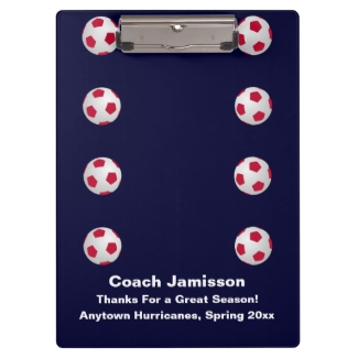 Clipboard, Navy Blue, Soccer Coach