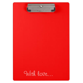 Clipboard Red