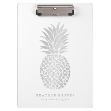 Professional Business Clipboard - Silver Pineapple