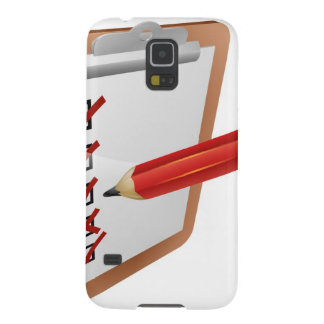 Clipboard survey and pencil icon case for galaxy s5