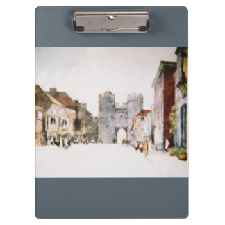 Clipboard with 'Canterbury Tower Gate' images