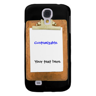 Clipboard with Plain White Paper Galaxy S4 Cover