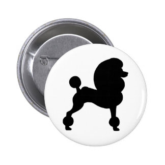 Clipped Standard Poodle Buttons