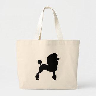 Clipped Standard Poodle Canvas Bag