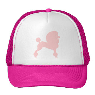 Clipped Standard Poodle in light pink Mesh Hat