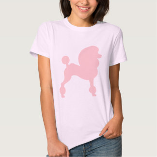 Clipped Standard Poodle (in light pink) Tee Shirt