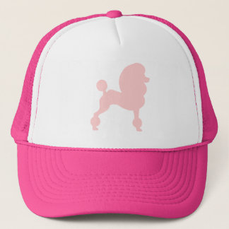 Clipped Standard Poodle (in light pink) Trucker Hat