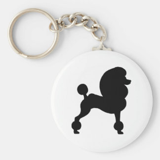 Clipped Standard Poodle Key Chains