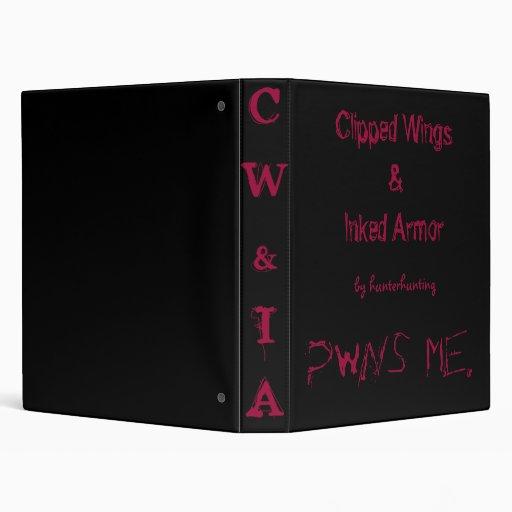 Clipped Wings & Inked Armor Vinyl Binder
