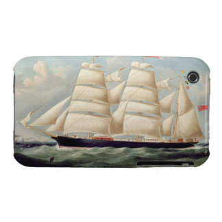 Clipper Barque 'Clendovey' (oil on canvas) iPhone 3 Case-Mate Cases
