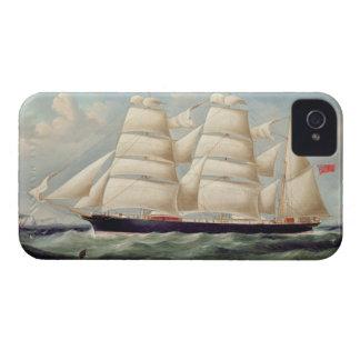 Clipper Barque 'Clendovey' (oil on canvas) iPhone 4 Case-Mate Case