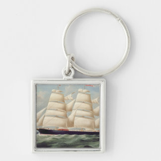 Clipper Barque 'Clendovey' (oil on canvas) Keychain