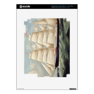 Clipper Barque 'Clendovey' (oil on canvas) Skin For iPad 3