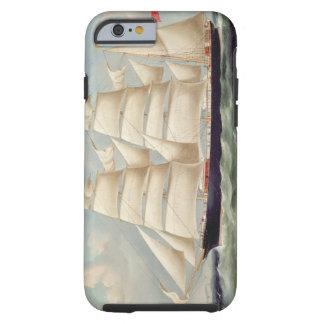 Clipper Barque 'Clendovey' (oil on canvas) Tough iPhone 6 Case