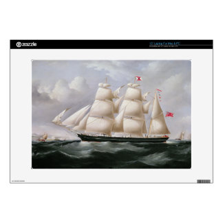 """Clipper Barque 'Procymatia' off Dover (oil on canv 15"""" Laptop Decals"""