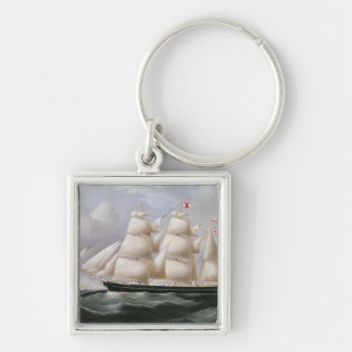 Clipper Barque 'Procymatia' off Dover (oil on canv Keychain