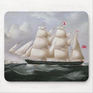 Clipper Barque 'Procymatia' off Dover (oil on canv Mouse Pad