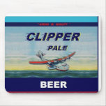 CLIPPER PALE BEER Famous Design Flat Top Can Mousepads