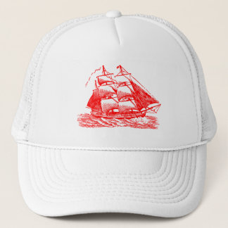 Clipper - Red Trucker Hat
