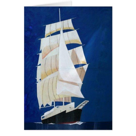 Clipper sail boat card