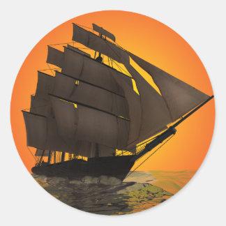 Clipper Ship Classic Round Sticker