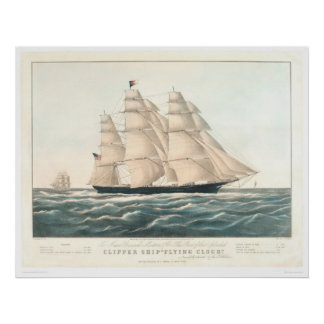 "Clipper ship ""Flying Cloud"" (0397A) Poster"