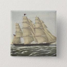Clipper Ship, Flying Cloud Pinback Button
