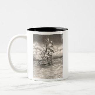 Clipper Ship Mug! Two-Tone Coffee Mug