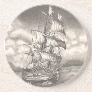 Clipper Ship Portrait Coasters. Coaster