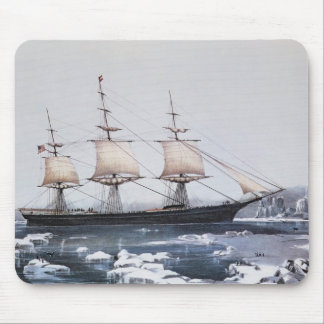 """Clipper Ship """"Red Jacket"""" Mouse Pad"""