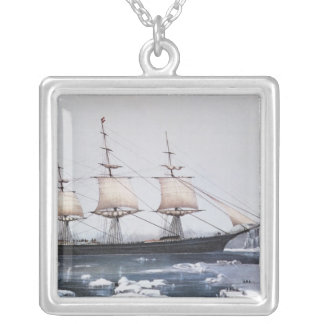 "Clipper Ship ""Red Jacket"" Silver Plated Necklace"