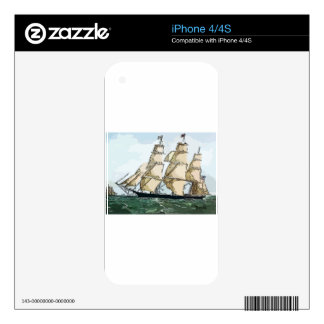 Clipper Ship Decal For iPhone 4