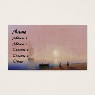 Clipper Ship Sunset Ocean Beach Business Cards