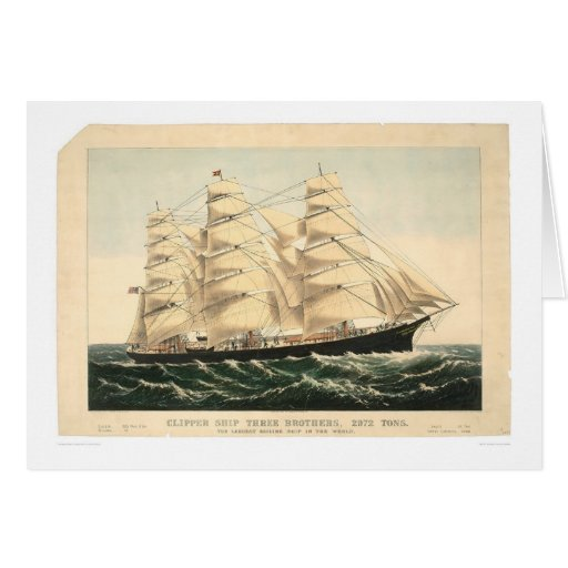 "Clipper ship ""Three Brothers"" (0406A) Card"