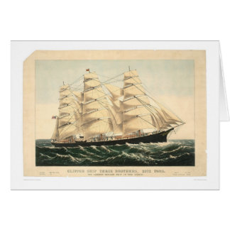 """Clipper ship """"Three Brothers"""" (0406A) Greeting Card"""