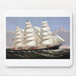Clipper Ship Three Brothers Mouse Pad