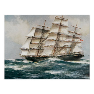 Clipper Ship Torrens Poster