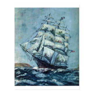 Clipper Ship Western Shore Products Without Text Postcard