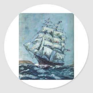 Clipper Ship Western Shore Products Without Text Sticker