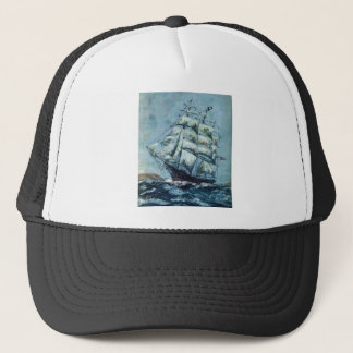 Clipper Ship Western Shore Products Without Text Trucker Hat
