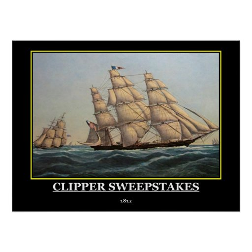 Clipper Sweepstakes 1812 Vintage Poster Print Posters