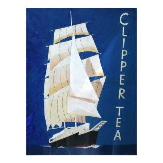 Clipper Tea vintage advertising poster Photo