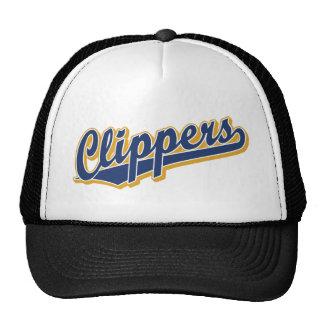 Clippers en azul y oro gorros