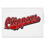 Clippers en rojo felicitaciones